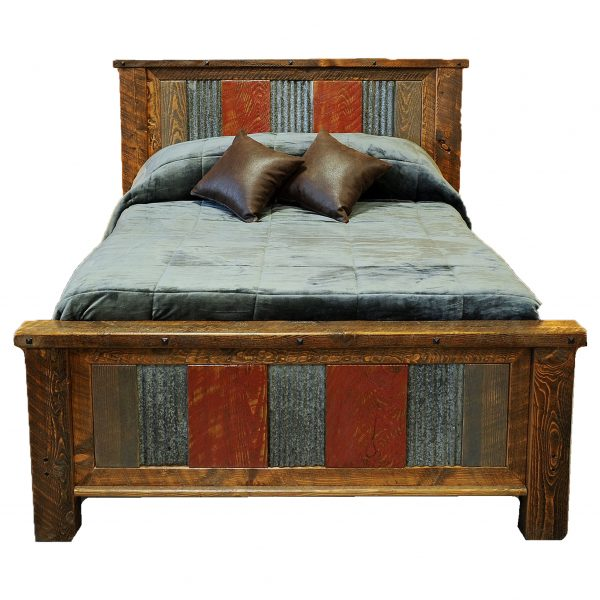 Distressed-Metal-And-Wood-Bed-3