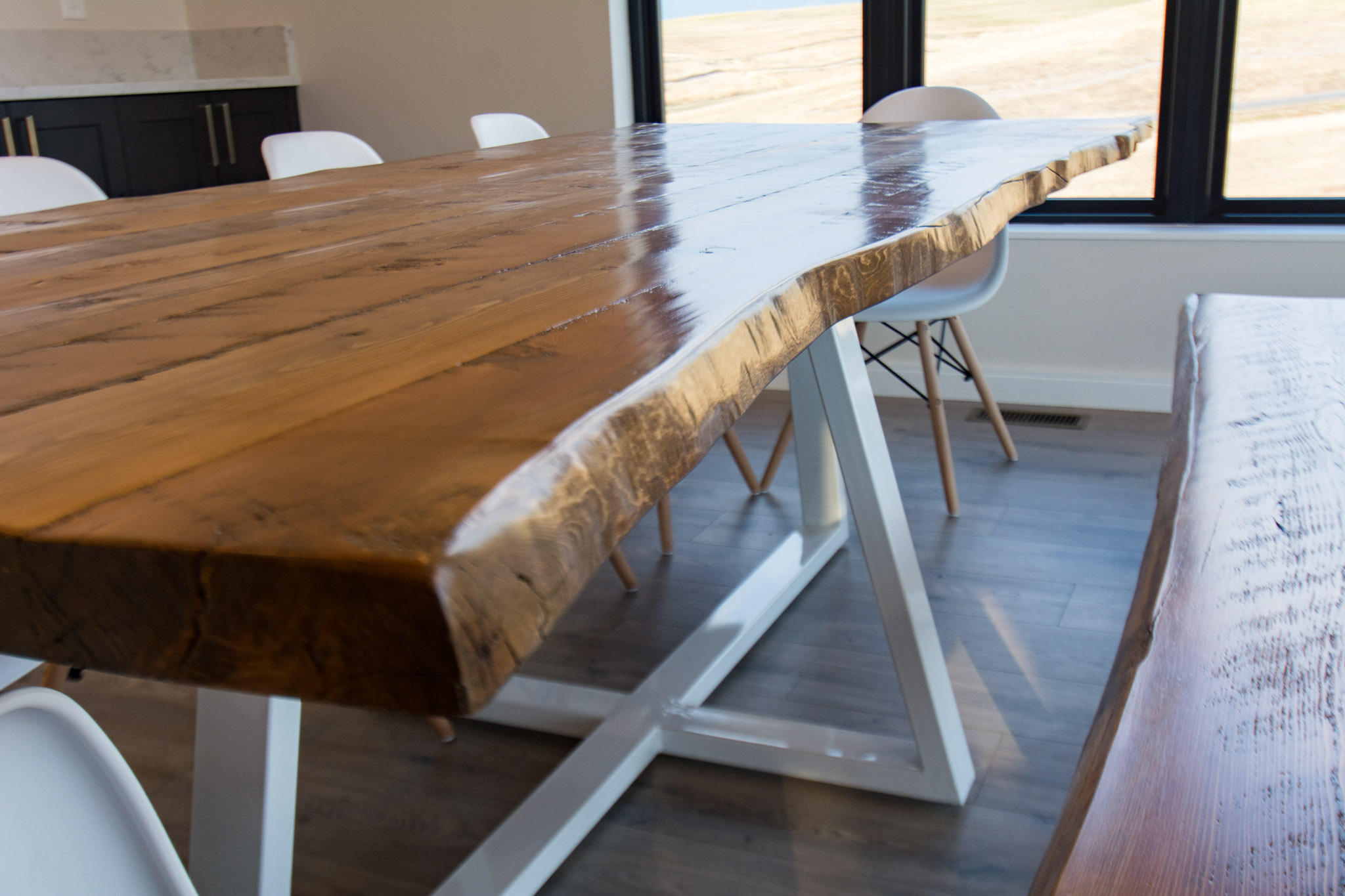 Remarkable Modern Live Edge Dining Table With Metal Legs Squirreltailoven Fun Painted Chair Ideas Images Squirreltailovenorg