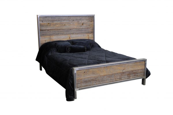Rustic-Industrial-Metal-And-Wood-Bed-6