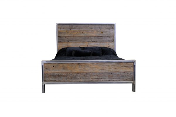 Rustic-Industrial-Metal-And-Wood-Bed-7