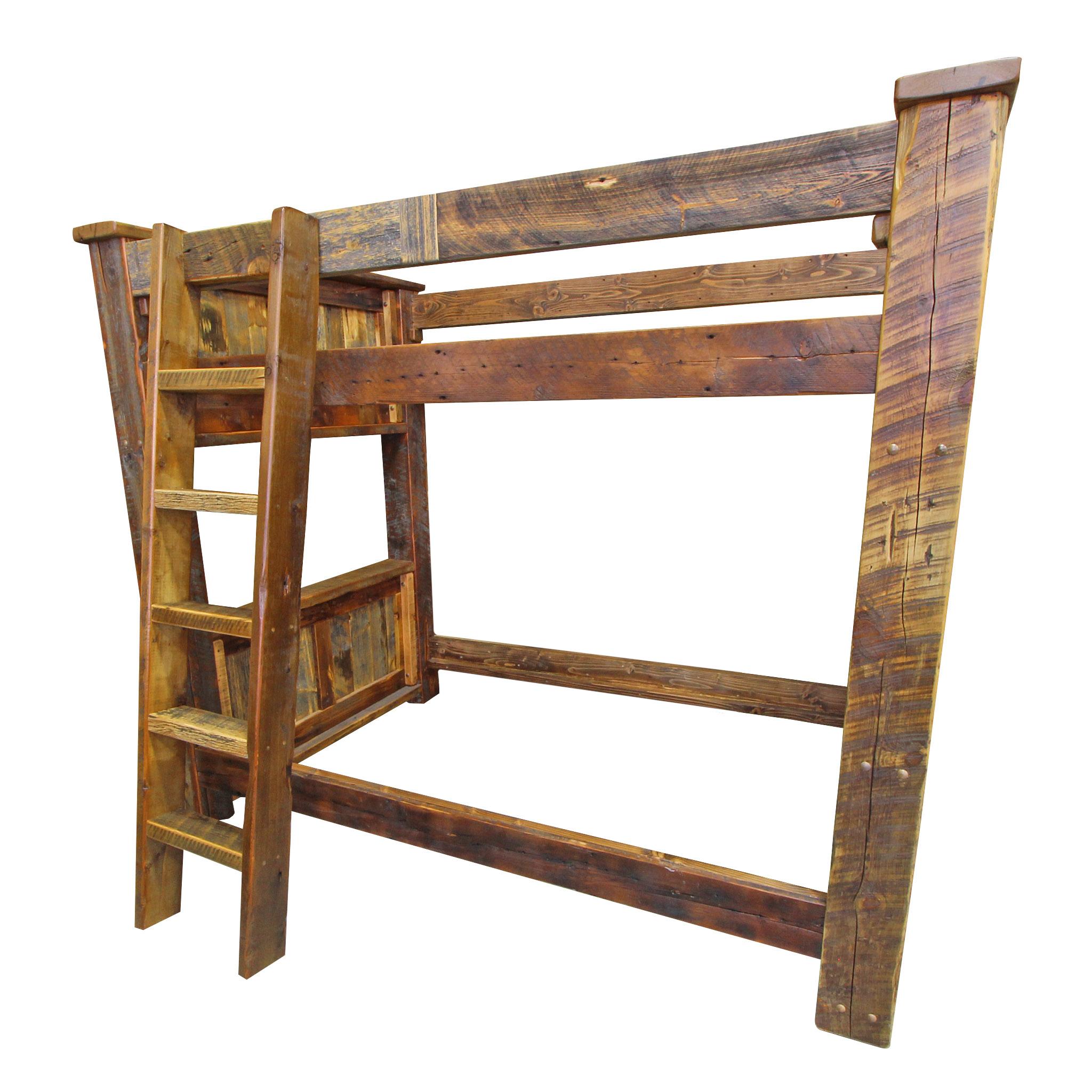 Barnwood Timber Bunk Bed Four Corner Furniture Bozeman Mt