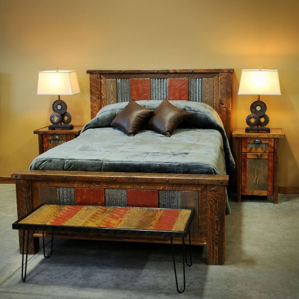 Distressed-Metal-And-Wood-Bed-1