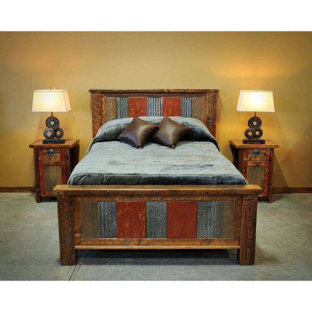 Distressed-Metal-And-Wood-Bed-2
