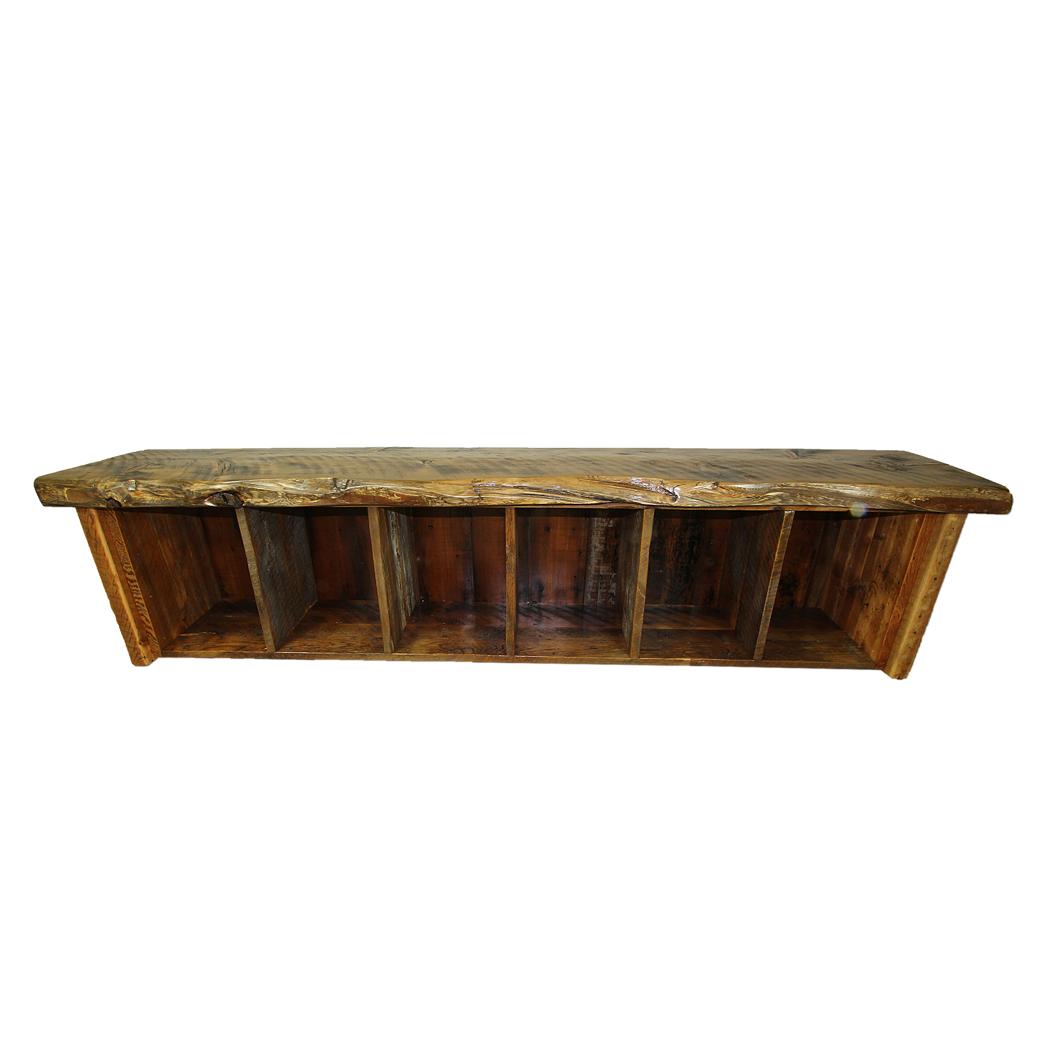 Admirable Live Edge Rustic Storage Bench Gmtry Best Dining Table And Chair Ideas Images Gmtryco