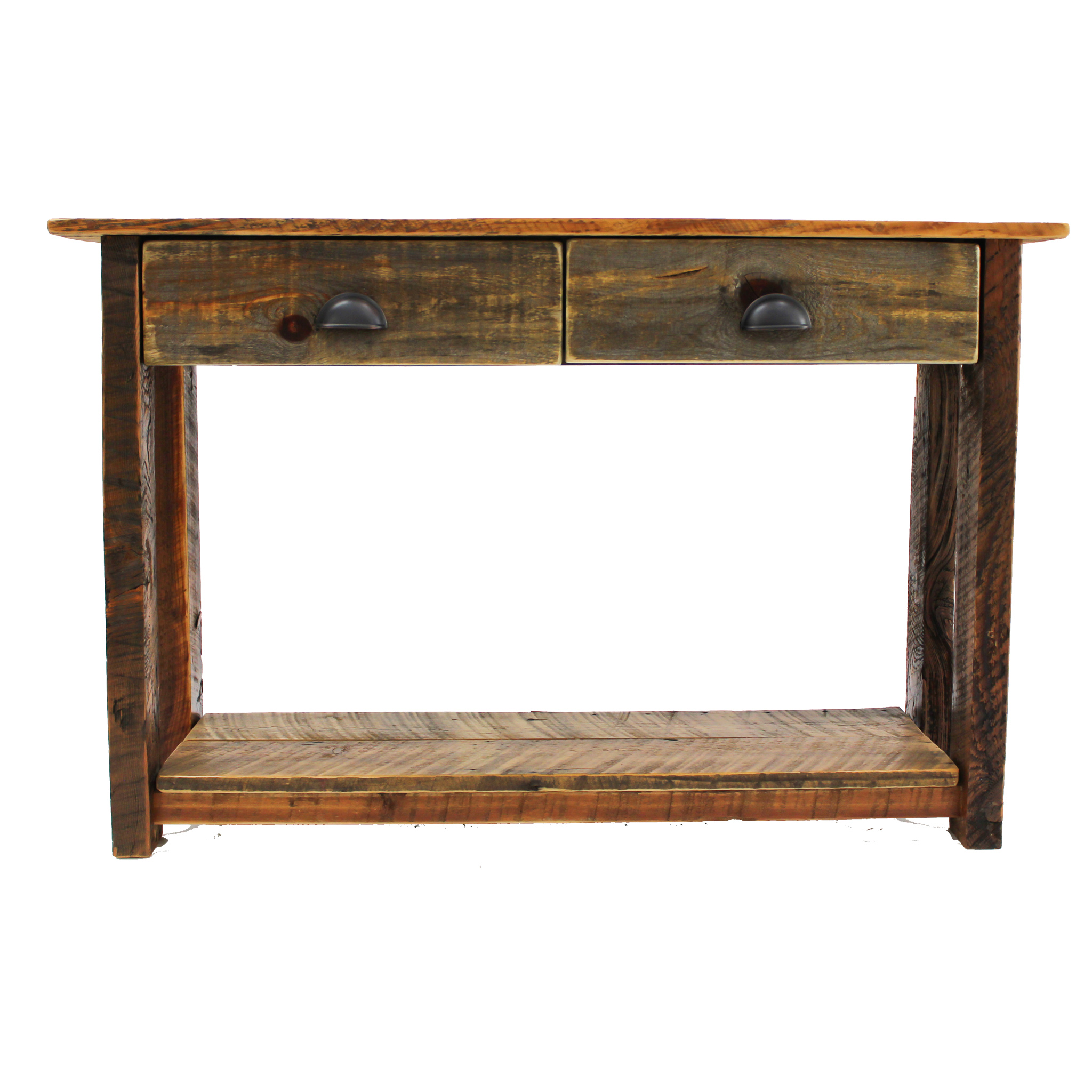 Reclaimed Entry Table With Drawers 1