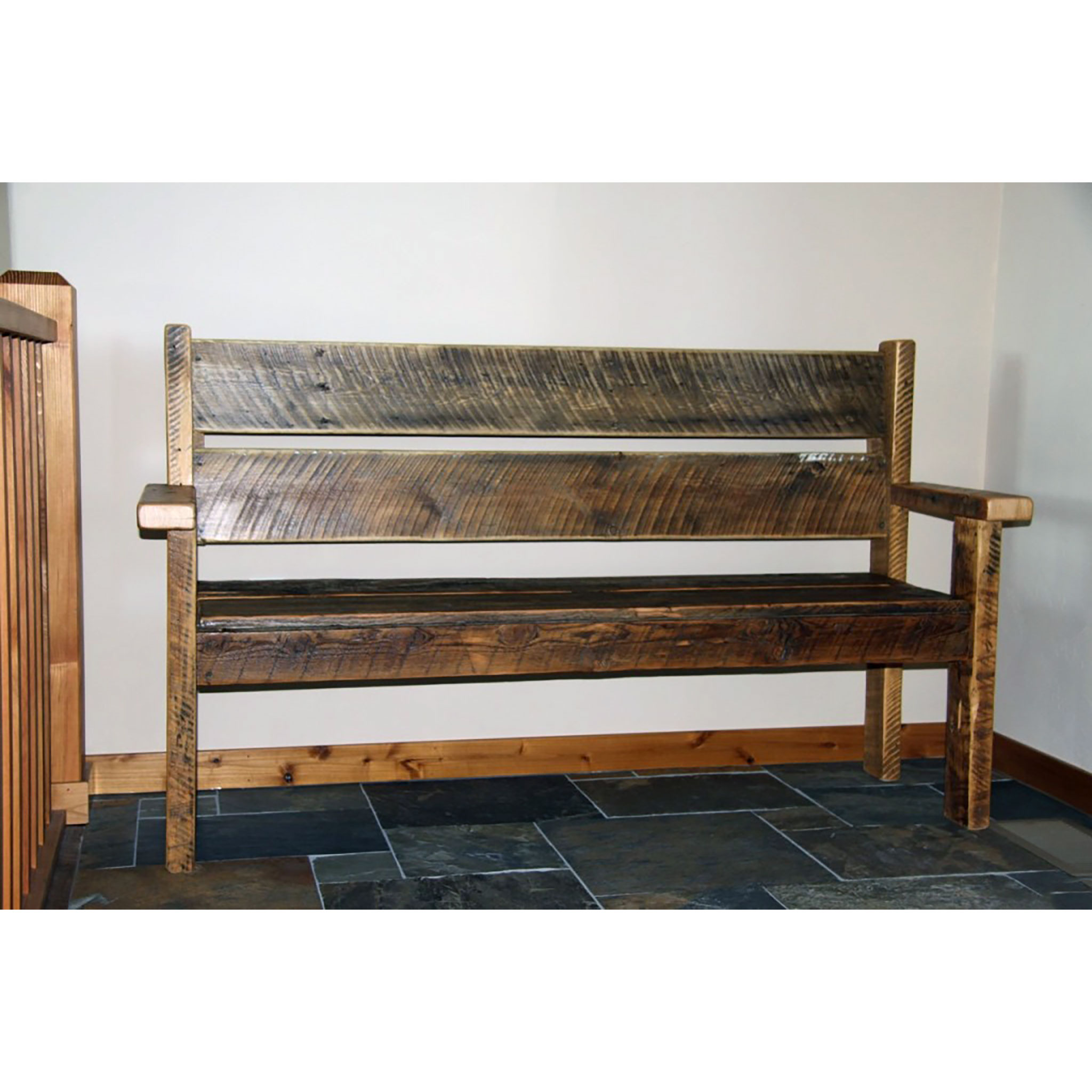 Superb Reclaimed Entryway Bench With Back Uwap Interior Chair Design Uwaporg