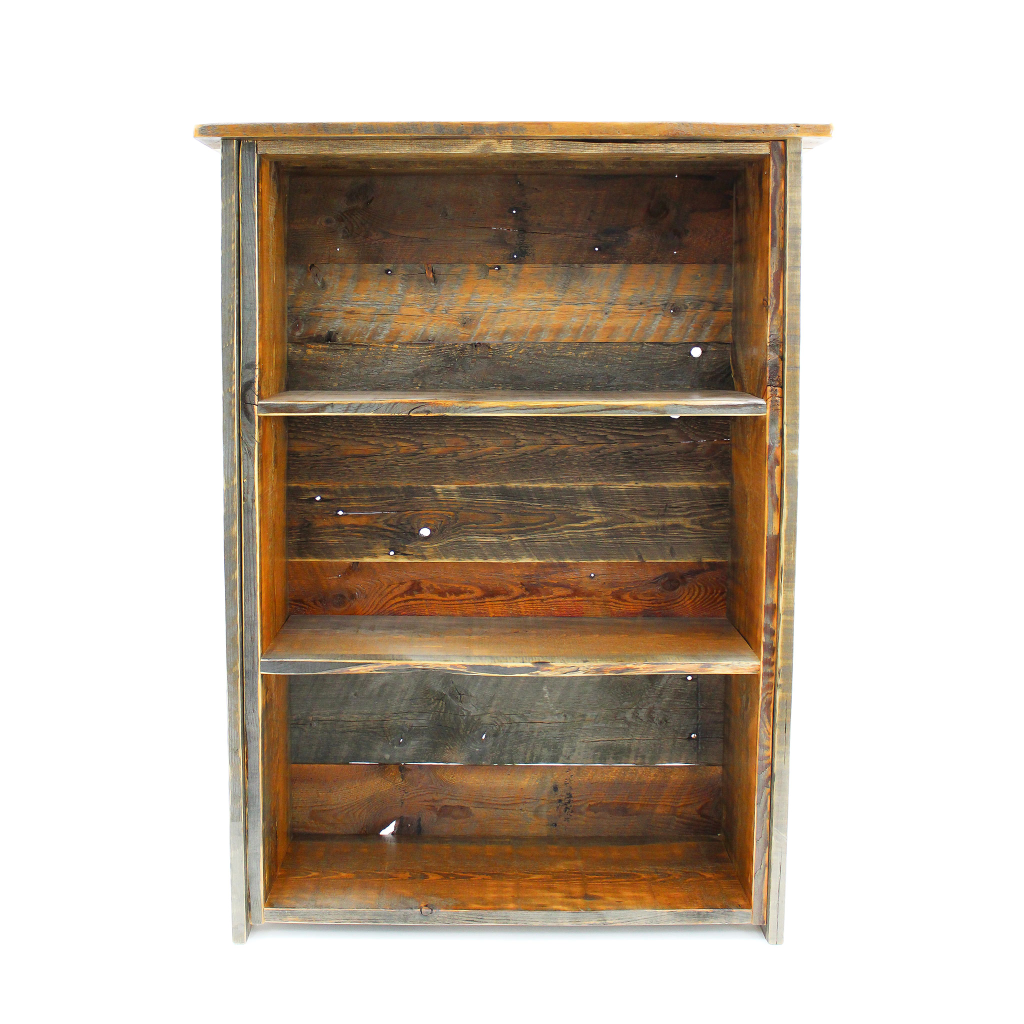 reclaimed wood bookshelf 1 - Reclaimed Wood Bookshelves