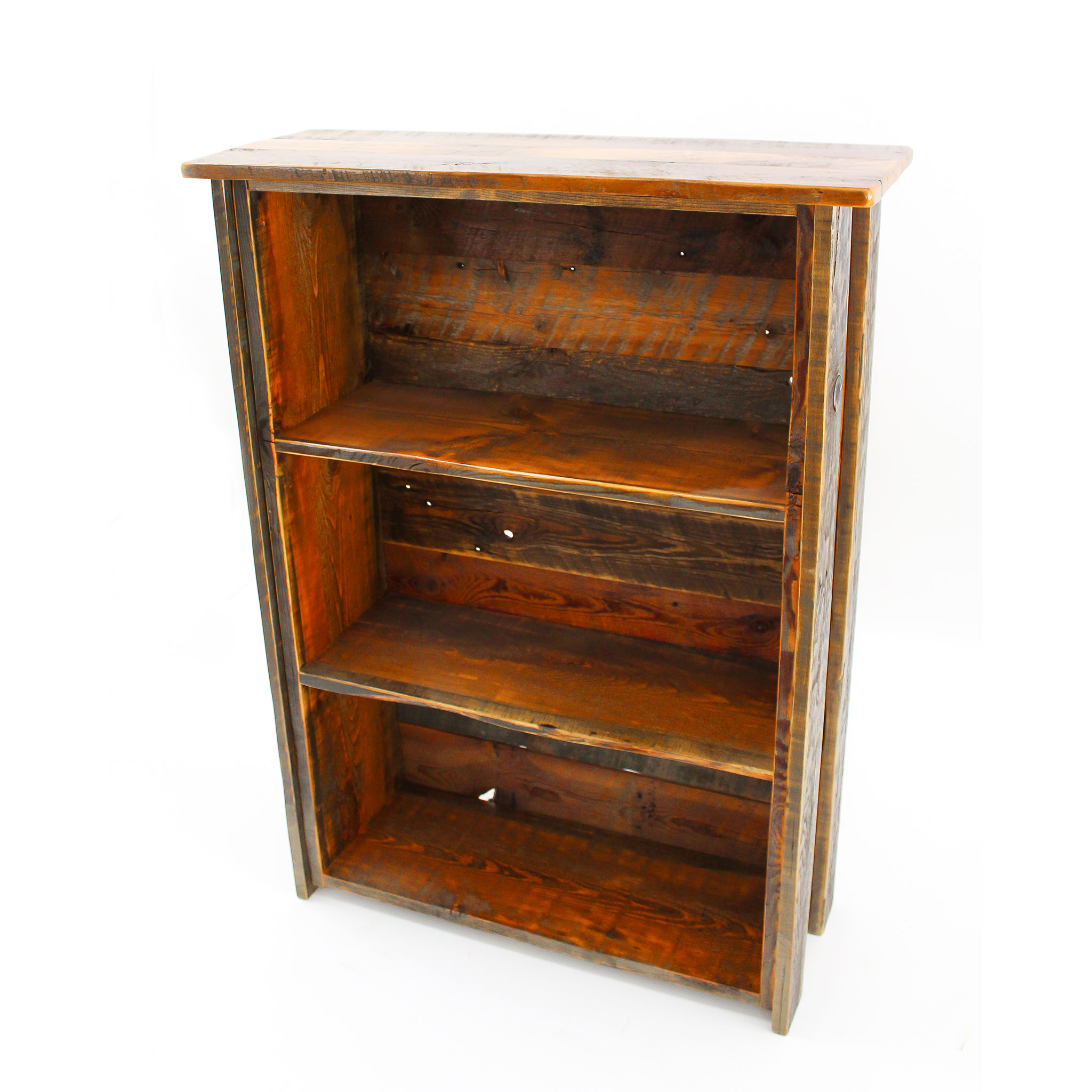 reclaimed wood bookshelf 2 - Reclaimed Wood Bookshelves
