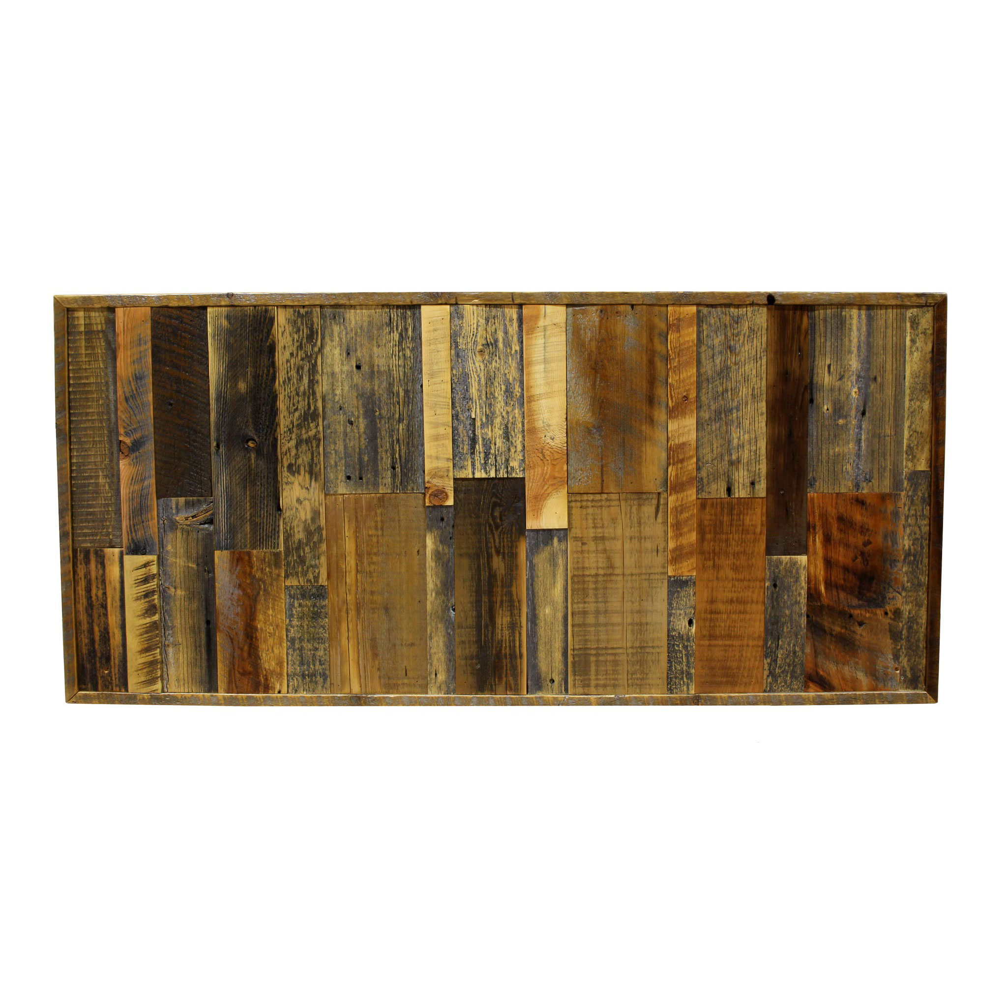 Inject Warmth Into Your Home With Reclaimed Wood Wall: Reclaimed Wood Headboard Vertical Stacked