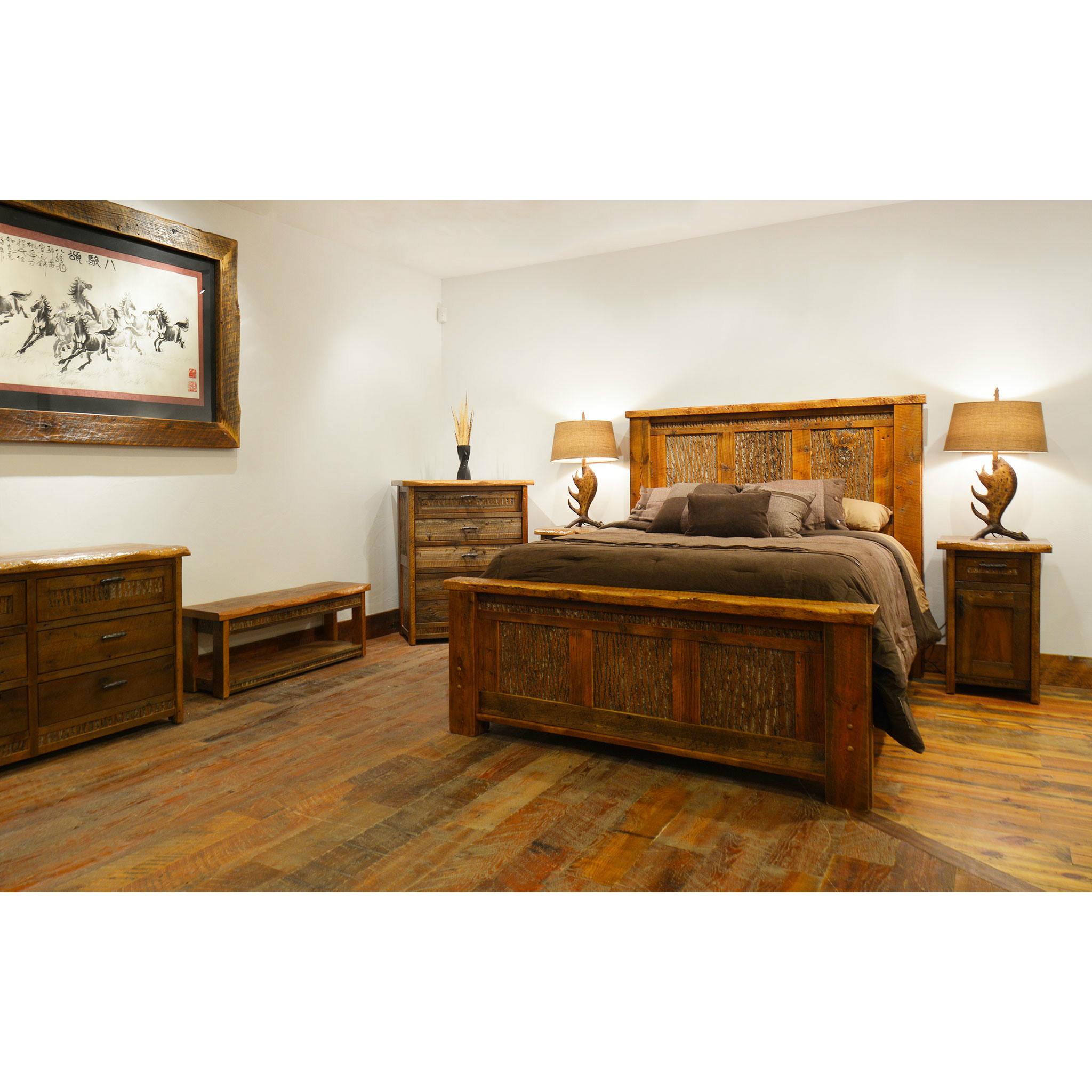 Beau Refined Rustic Barnwood Bed 4