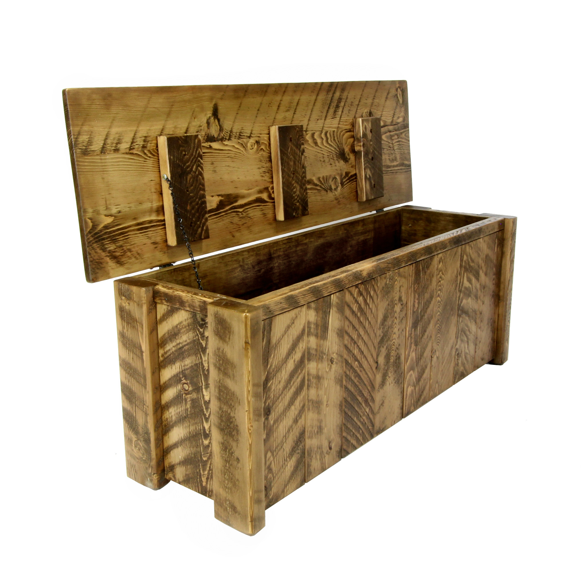 Charmant Rustic Blanket Storage Trunk 3