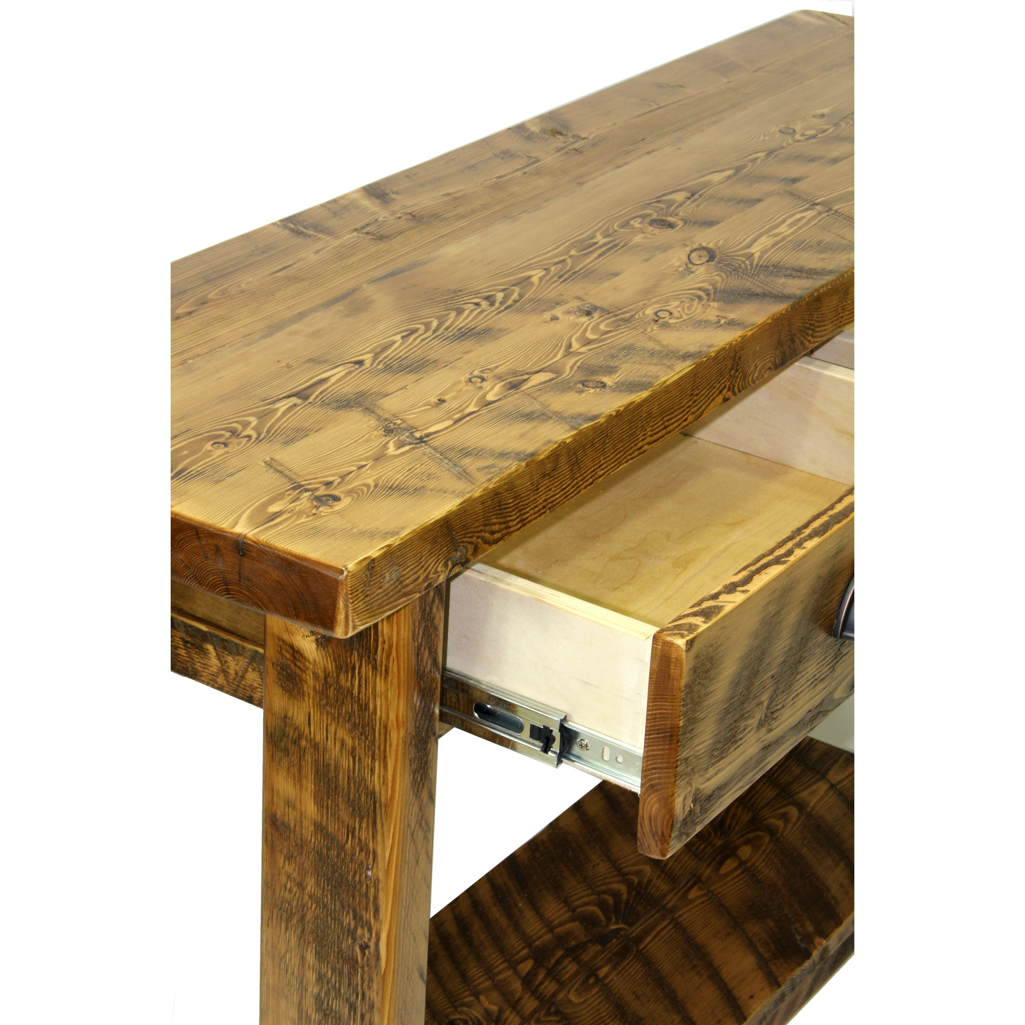 Rustic Console Table With Drawers Four Corner Furniture Bozeman Mt