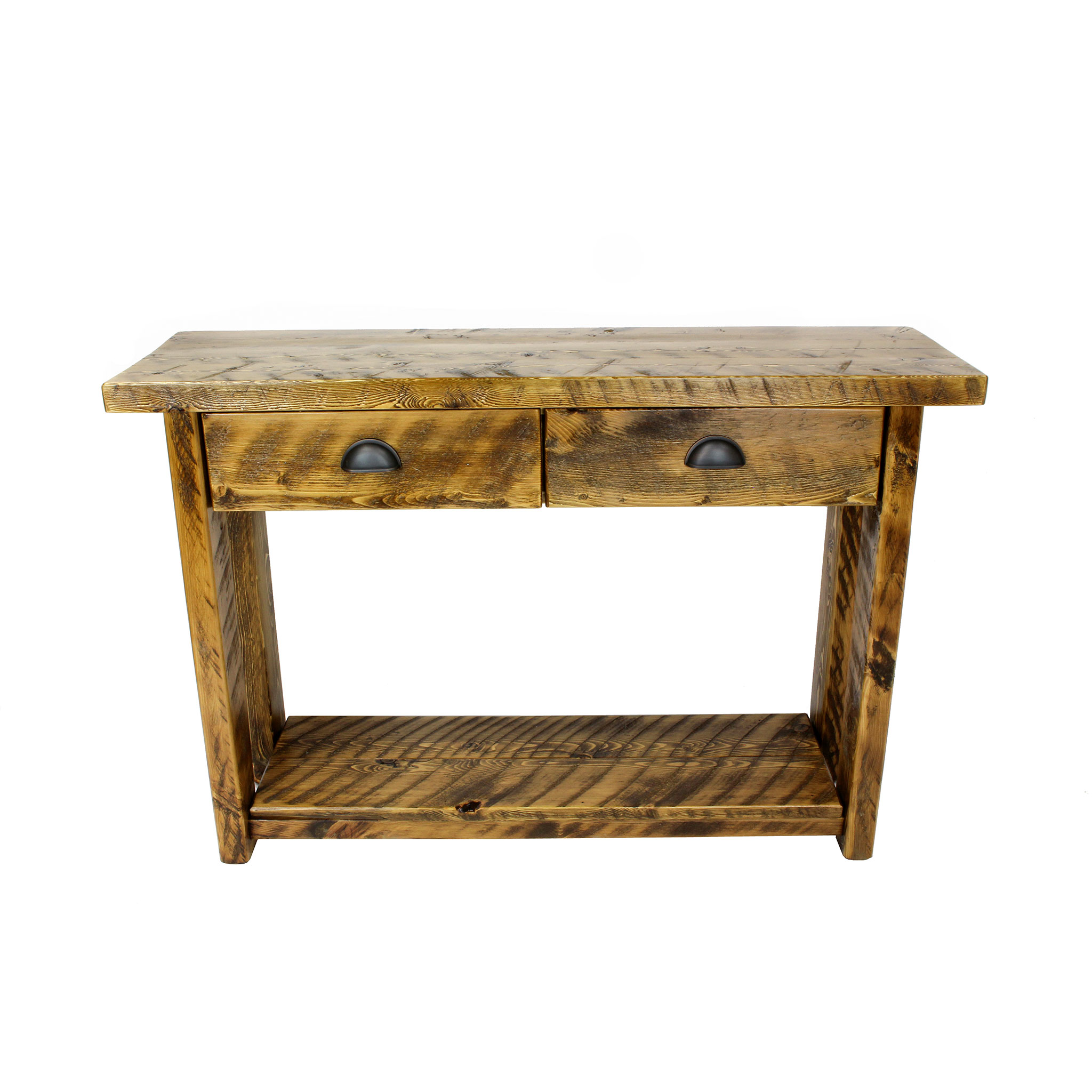 Rustic Entryway Table With Drawers 1
