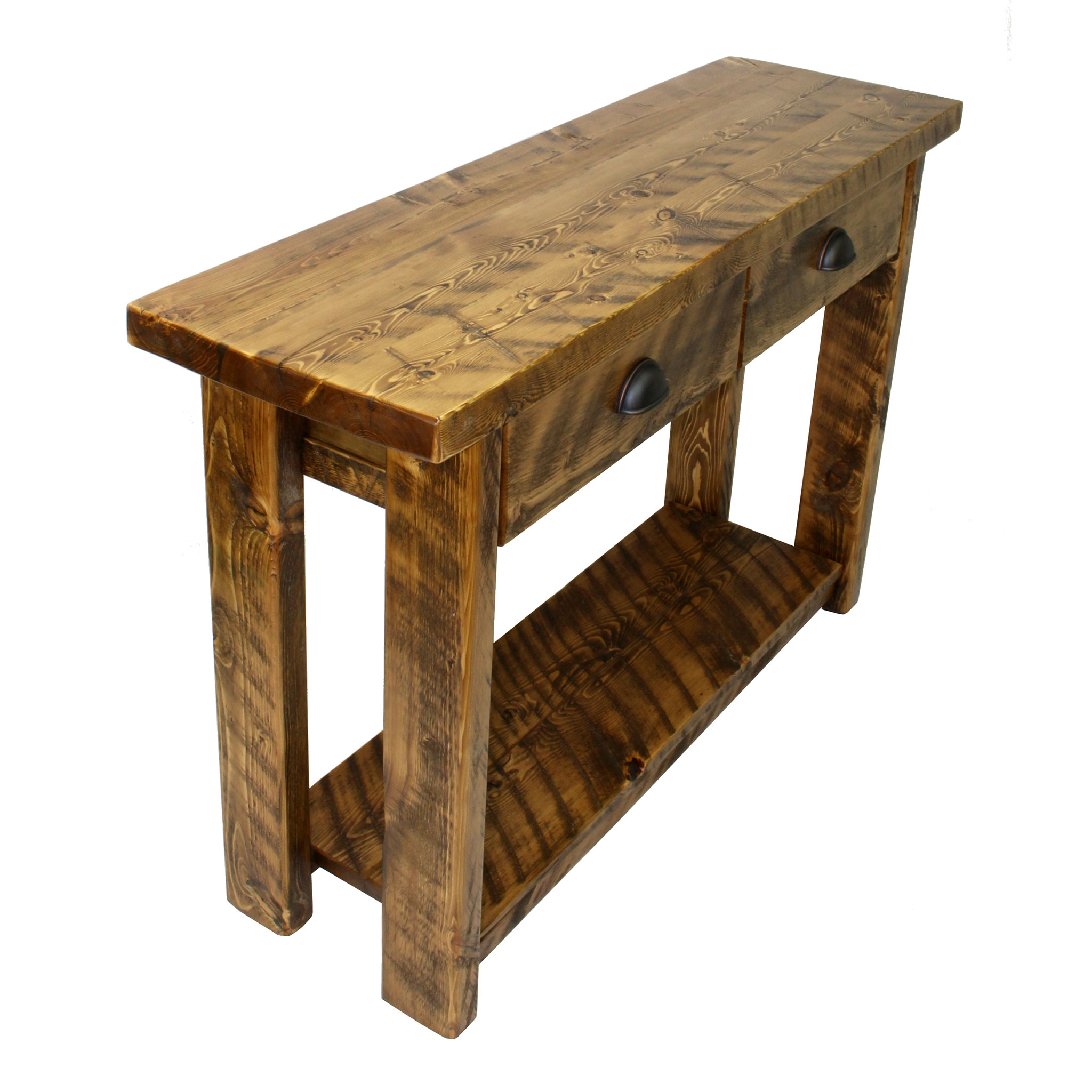 Rustic Entryway Table With Drawers 2