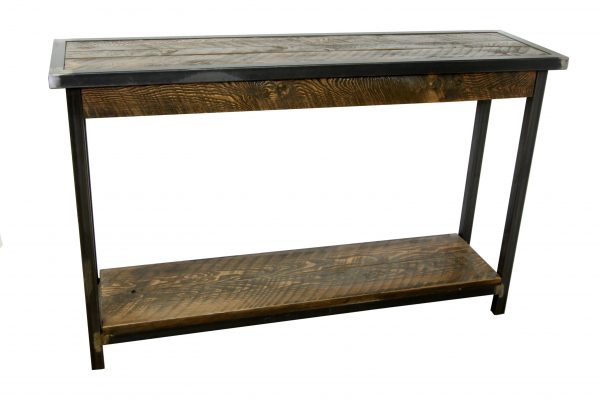 Rustic-Entryway-Table-With-Metal-Base-2