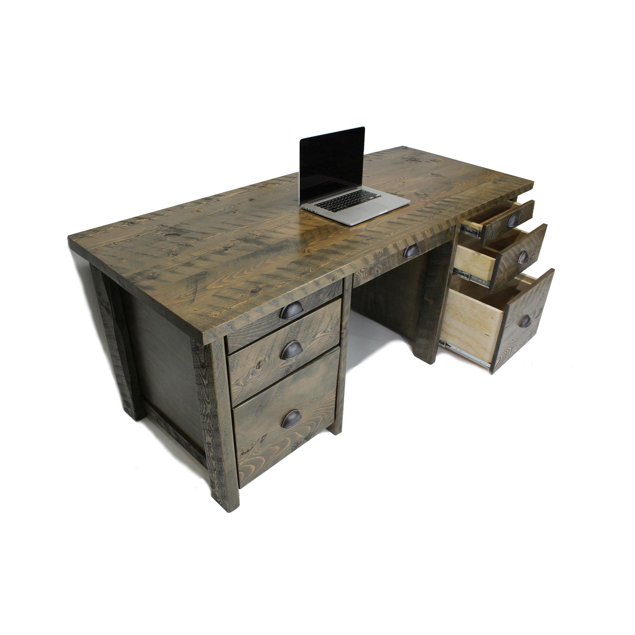 Rustic Executive Office Desk Four Corner Furniture Bozeman Mt