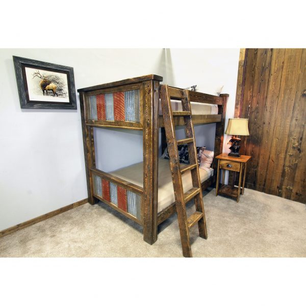 Rustic-Metal-And-Wood-Bunk-Bed-1