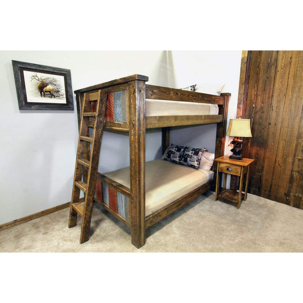 Rustic-Metal-And-Wood-Bunk-Bed-2