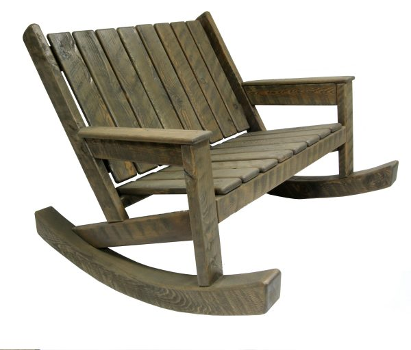 Rustic-Rocking-Adirondack-Loveseat-4