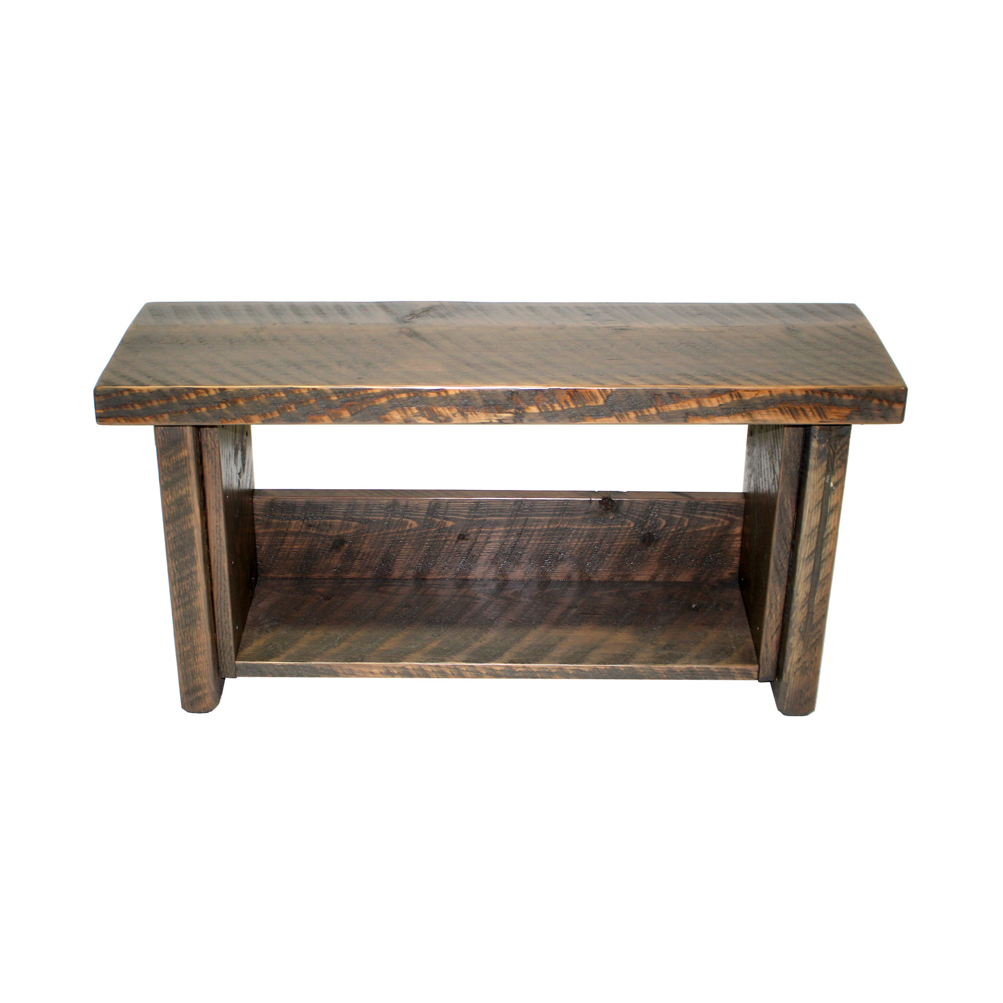 Genial Rustic Storage Shelf Bench 1
