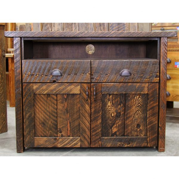 Rustic-TV-Console-With-Drawers-2