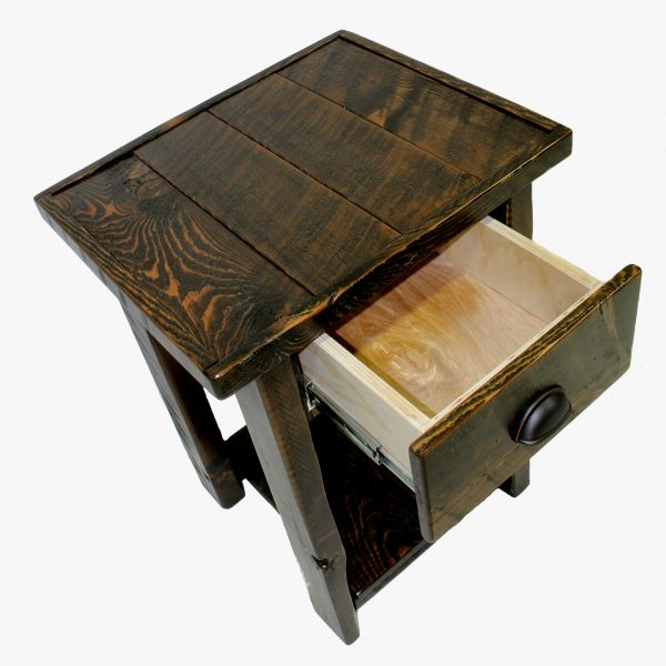 Rustic-Wood-1-Drawer-Nightstand-4