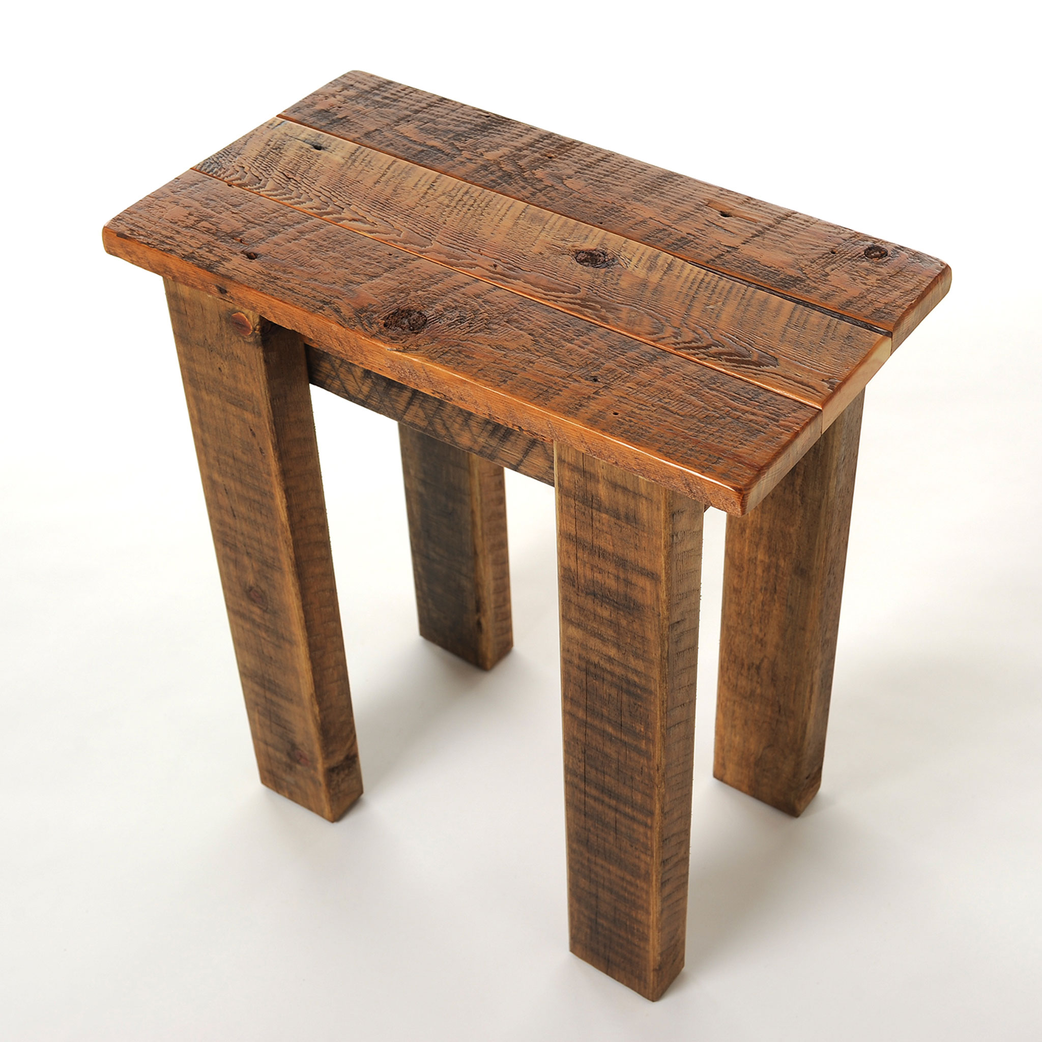 Simple Reclaimed Barnwood Small End Table 3