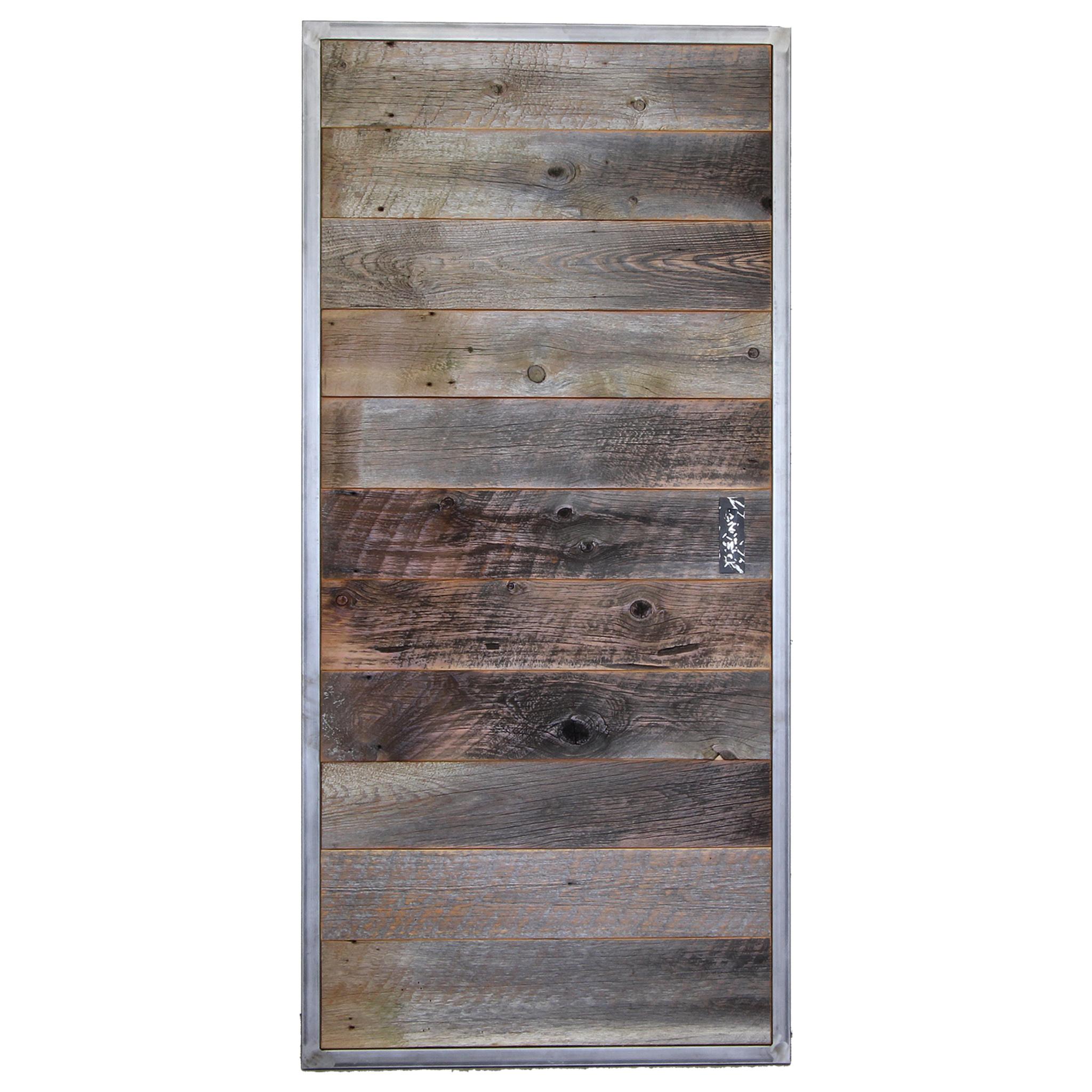 Industrial Metal And Reclaimed Wood Barn Door Four Corner