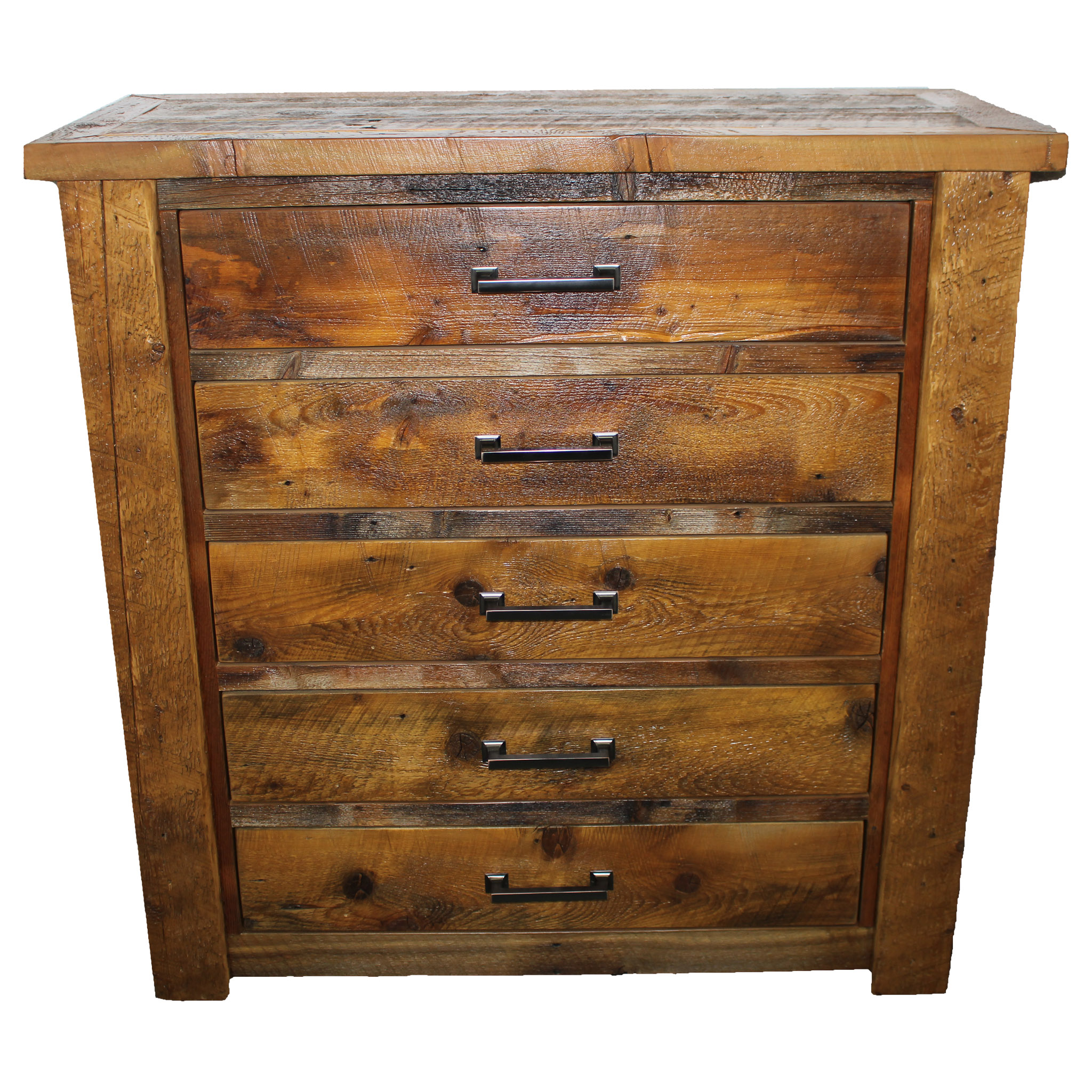 Rustic lodge chest of drawers big sky barnwood