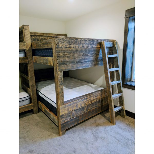 Built-in-bunk-grey-reclaimed-planks-storage-shelves-l-shaped-design-fourcornerfurniture-3