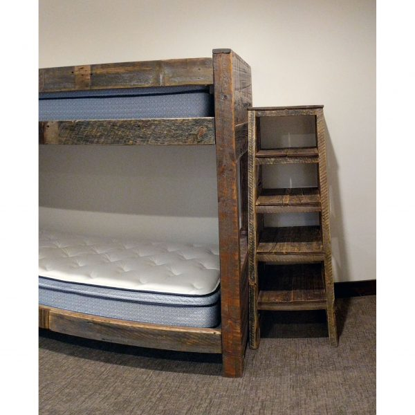 Built-in-bunk-grey-reclaimed-planks-storage-shelves-l-shaped-design-fourcornerfurniture-4