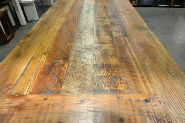 Reclaimed-dining-table-with-metal-base-top-1