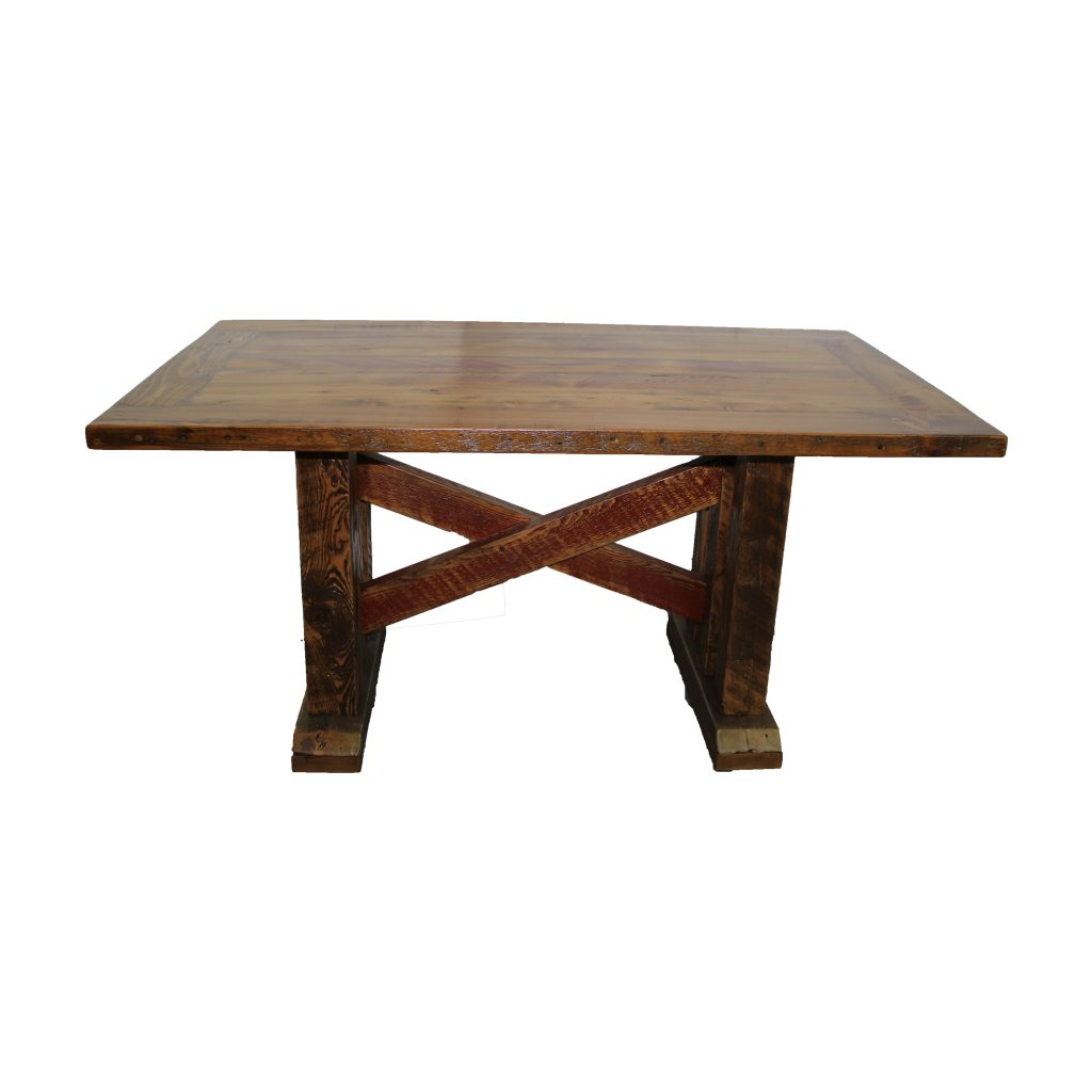 Reclaimed-Cross-Brace-Trestle-Table-1