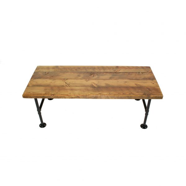 COFFEE-TABLE.SOLID-TOP.PIPE-LEGS.BARNWOOD.-FRONT-VIEW