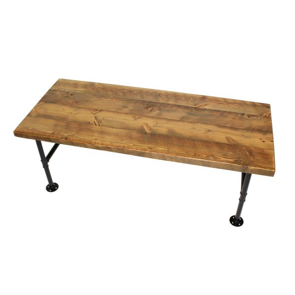 COFFEE-TABLE.SOLID-TOP.PIPE-LEGS.BARNWOOD.-TOP-VIEW
