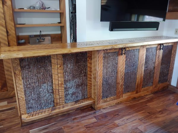 Custom-dry-bar-with-bark-accents-storage-cabinet-fourcornerfurniture-1