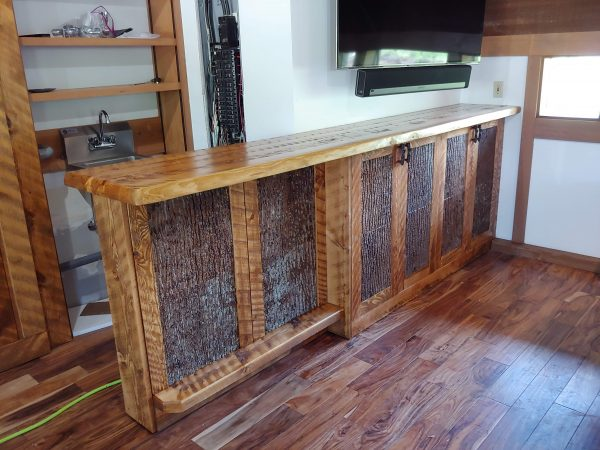 Custom-dry-bar-with-bark-accents-storage-cabinet-fourcornerfurniture
