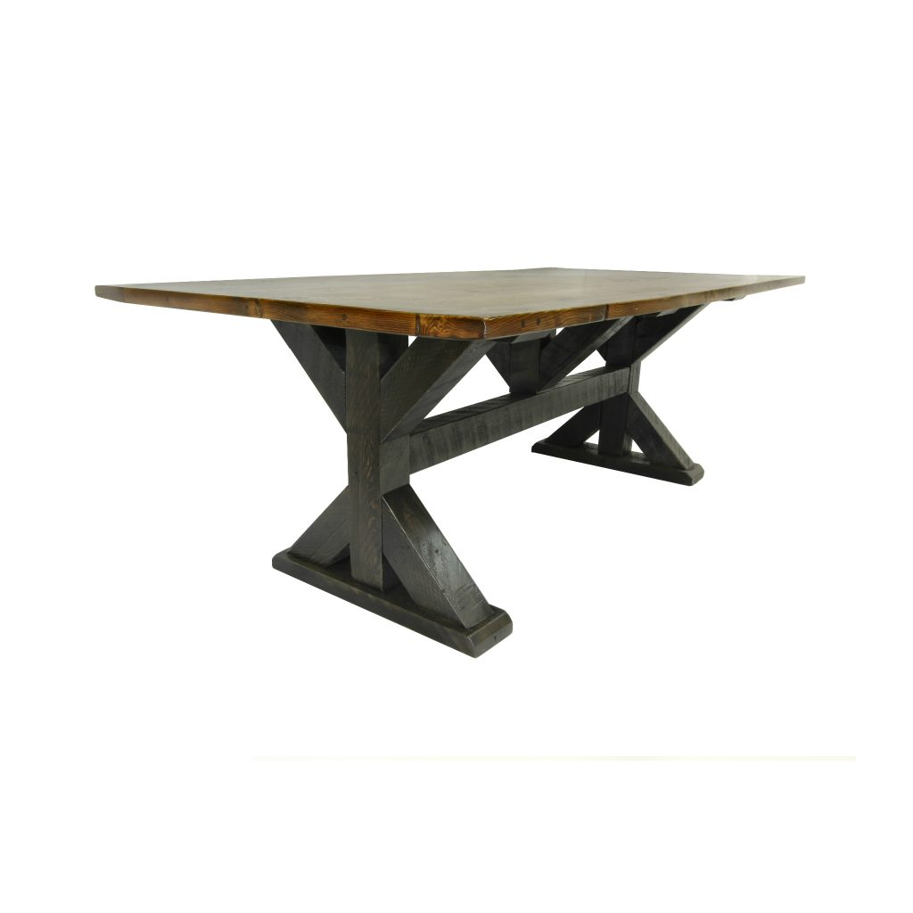Reclaimed-Wood-Dining-Table-With-Cross-Brace-Trestle-1