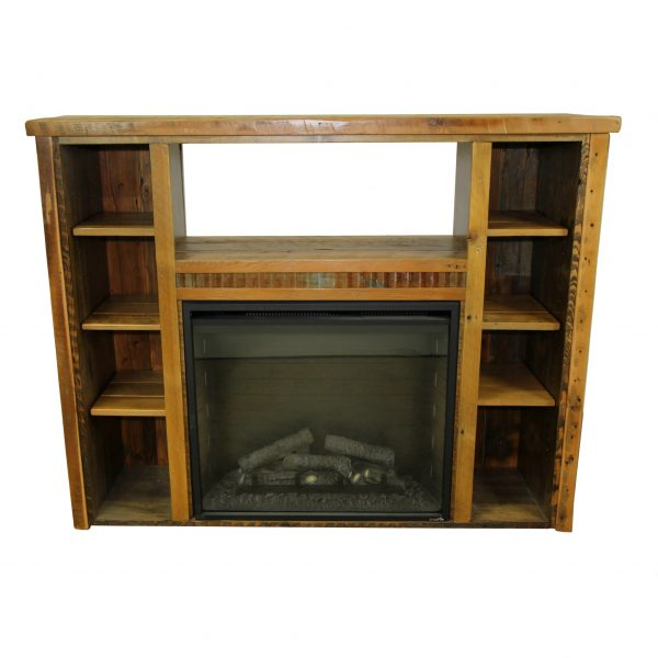 Reclaimed-Wood-Fireplace-With-Shelves-2